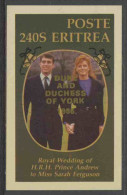 Eritrea 1986 (not Official ?) Royal Wedding Prince Andrew And Miss Sarah Ferguson – 23 July 1986 / Hochzeit - Eritrea
