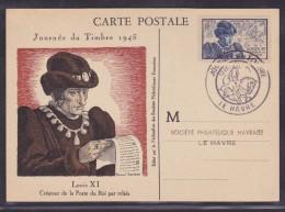 France Journée Du Timbre 1945 - Le Havre - ....-1949