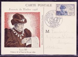 France Journée Du Timbre 1945 - Angers - ....-1949