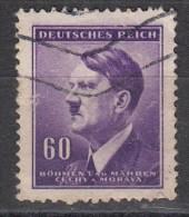 Effigie D'Hitler  Bohmen Und Marhen 60 P - Oblitérés