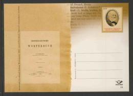 Estland Estonia Eesti 2005 Postcard / Postkarte - Ferdinand Johann Wiedemann (1805-1887) Estonian-German Dictionary - Talen