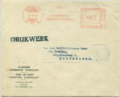 Nederlands Indië / Indonesia - 1949 - Roodfrankering / Meter Machine 80,  Landbouw Syndicaat Op Compleet Drukwerk - Netherlands Indies