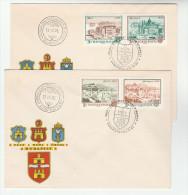 PAIR Of HUNGARY FDC BRIDGES Bridge Stamps Cover - FDC