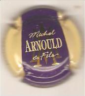 CAPSULE MUSELET CHAMPAGNE MICHEL ARNOULD ET FILS VERZENAY Grand Cru ,or Et Blanc Sur Violet Et Crème - Champagne