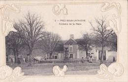 52 - PREZ S/S LAFAUCHE - Pce De La Fontaine Très Animée, Carte Gaufrée- A Voir - Autres Communes