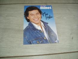 Autographe de Bernard Minet du groupe Les Muscl�s
