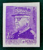 PRINCE LOUIS II 1941/42 - NEUF ** - YT 23a - MI 262a - NON-DENTELE (RARE !) - Unused Stamps
