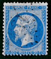 NAPOLEON III - EMPIRE FRANC. 1862 - OBLITERE - YT 22a - DENTELE 14 - 13 1/2 - 1862 Napoleon III