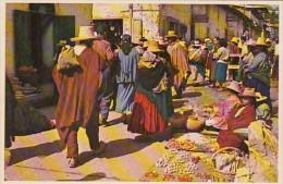Peru Market Scene In Cajamarca