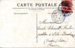 ALLEMAGNE. 10 Pf Sur Carte Postale De Paris à Destination De L'Ile-Bouchard En France Ayant Circulé En 1908. - Briefe U. Dokumente