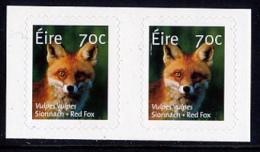 IRELAND/Irland/Eire 2015 Definitive Red Fox & Otter Self-Adhesive Pairs** - 1949-... Repubblica D'Irlanda