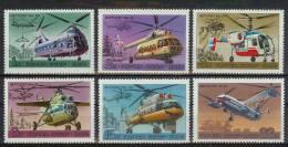 Mua373 TRANSPORT VLIEGTUIGEN HELICOPTER PLANES FLUGZEUG HUBSCHRAUBER QWRS 1980 PF/MNH  VANAF1EURO # - Helicopters
