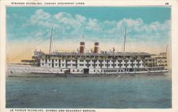 Steamer Richelieu Vapeur - Québec Saguenay - Bateau Boat - Librairie Garneau - VG Condition - 2 Scans - Steamers