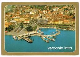 M3201 Verbania Intra - Lago Maggiore - Barche Boats Bateaux - Vista Aerea Aerial View Vue Aerienne / Viaggiata 1988 - Verbania