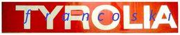 Vintage Adesivo Sticker Autocollant TYROLIA SKI BINDINGS-ATTACCHI DA SCI-[cm.16x96] -1984- - Stickers