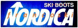 Vintage Adesivo Sticker Autocollant NORDICA SCARPONI DA SCI-SKI BOOTS-[cm.16,5x48] -1984- - Stickers