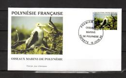 """POLYNESIE FRANCAISE 1996 : Enveloppe 1er Jour """" OISEAUX MARINS DE POLYNESIE... """" N° YT 511. Parfait état. FDC"""