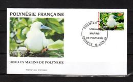 """POLYNESIE FRANCAISE 1996 : Enveloppe 1er Jour """" OISEAUX MARINS DE POLYNESIE... """" N° YT 510. Parfait état. FDC"""