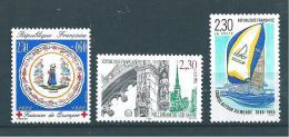 France Timbres De 1990 N°2646  A  2648  Neuf **vendu A La Faciale - France