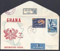 """GHANA - JOLIE ENVELOPPE """" DEFINITIVE ISSUE """" ACCRA  5 OCTOBRE 1959 - - Ghana (1957-...)"""