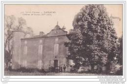 Cpa Réf-JP-X241 ( Dép-47- à DAMAZAN ) Groupe De Personnes Devant Le Château De COZELA  ( XVe Siècle ) - Damazan