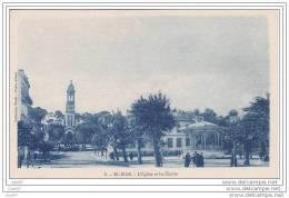 """Cpa  Réf-JP-X417 ( Algérie ) EL-BIAR  """""""""""""""" Commune D&amp Acute Alger """"""""""""""""  L' Eglise  Et Les Ecoles - Alger"""