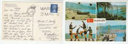 1973 SHIP MAIL CARD From TURKEY To GB  (postcard MARMARIS ) Pmk  'LONDON  MARITIME MAIL'  Franked GB Stamps - 1921-... Republic