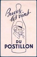 Buvard : Vins Du Postillon. - Buvards, Protège-cahiers Illustrés