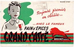 Buvard : Pain D'épices Grand Cassé, Brochet Frères à Besançon. Cachet Leroy Adrover à Noeux Les Mines. - Pain D'épices