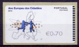 Portugal Vignette ATM MiNr 82 Ano Europeu Dos Cidadaos 2013 MNH XX - ATM/Frama Labels