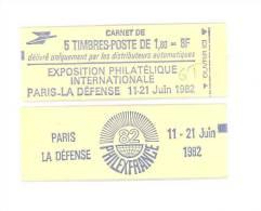 """CARNET 2155-C1a Sabine De Gandon """"PHILEXFRANCE 82"""" Fermé Gomme Mate (photo Du Haut Non Contractuelle) Bas Prix RARE - Carnets"""