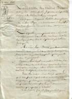DOCT NOTARIAL 1 FEUILLE G. F PLIETIMBRE REP. FISCAL HUMIDE 75 CENTS 4/08/1806 - Paiement Hypothèques JOIGNY LOOZE Yonne - Cachets Généralité