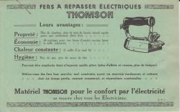 1er AVRIL 1925 PUBLICITÉ THOMSON FER A EPASSER ÉLECTRIQUES SUR FACTURE D'ÉLECTRICITÉ - 2 Scans - - Publicités