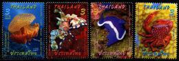 THAÏLANDE 2015 - Faune Marine, émission Conjointe Avec La Malaisie - 4 Val Neufs // Mnh - Thailand