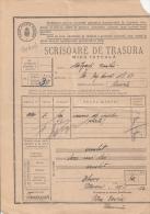 WAYBILL, RAILWAY TRANSPORTATION TICKET FOR MERCHANDISE, AVIATION, STATISTICAL STAMPS,1934, ROMANIA - Chemins De Fer