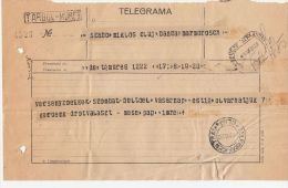 TELEGRAMME SENT FROM TARGU MURES TO CLUJ NAPOCA, 1929, ROMANIA - Télégraphes