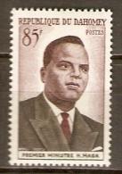 DAHOMEY.    1960.   Y&T N°158 *.  Premier Ministre  H. Maga. - Bénin – Dahomey (1960-...)