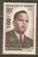DAHOMEY.    1961.   Y&T N°167 *.  Premier Ministre  H. Maga.  Surchargé - Bénin – Dahomey (1960-...)