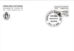 Greenland Card P/m Grønlands Postkontor 1984 IENECOPIA Jönköping   (G76-41) - Greenland