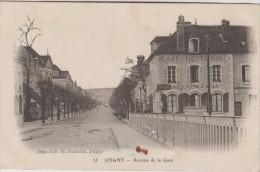 89 JOIGNY 1916 AVENUE DE LA GARE CAFE MEUNIER ED H HAMELIN 35 ROUSSEURS - Joigny