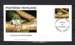 """POLYNESIE FRANCAISE 1996 : Enveloppe 1er Jour """" CIGALE DE POLYNESIE / PAPEETE Le 07-08-1996 """" N° YT 516. Parf état. FDC - Insectes"""