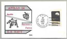 APOLLO 14 -  PRIME RECOVERY SHIP =USS NEW  ORLEANS -PRINTED CACHET - Briefe U. Dokumente