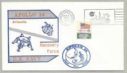 APOLLO 14 -  SPLASHDOWN -WITH OFFICIAL NASA-KSC CACHET AND PRINTED NAVAL CACHET - Briefe U. Dokumente