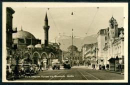 Sofia, Boulvard Maria Louise M. Witoschka-Gebäude, Moschee, Minarett, TRAM, LKW - Bulgarien