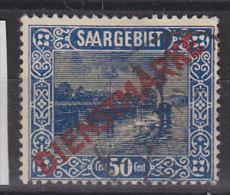 SAAR Dienst 9 PF VIII, Gestempelt - Dienstmarken