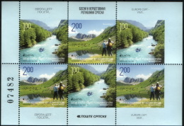 Bosnia Serbia 2012 Europa CEPT, Visit, Rafting, Nature, Block From Booklet  MNH - 2012