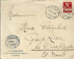 """Motiv Brief  """"La Chablière, Institut Linguistique Et Commercial Lausanne""""            1915 - Suisse"""