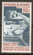 DAHOMEY.   Aéro . 1967.  Y&T N°61 *.    Expo Universelle De Montréal / Canada. - Bénin – Dahomey (1960-...)