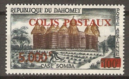 DAHOMEY.    1969.   Colis Postaux.   Y&T  N°12 *.     Case Somba, Surchargés. - Bénin – Dahomey (1960-...)