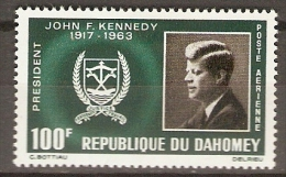 DAHOMEY.    Aéro.  1965.   Y&T N°34 *.  J.F.  Kennedy. - Bénin – Dahomey (1960-...)